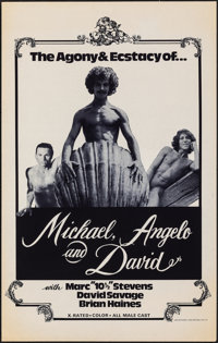 "Michael, Angelo and David & Other Lot (1976). Rolled, Very Fine-. Posters (4) (19"" X 30""). Adult. ... (Tot..."