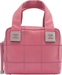 "Chanel Pink Caviar Calfskin Square Stitch Handbag Condition: 2 7.5"" Width x 6"" Height x 5"" Depth"
