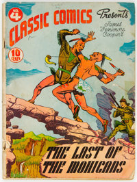 Classic Comics #4 The Last of the Mohicans - First Edition (Gilberton, 1942) Condition: GD-