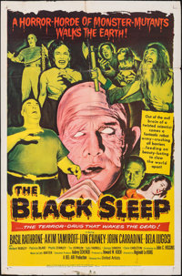 """The Black Sleep & Other Lot (United Artists, 1956). Folded, Overall: Fine/Very Fine. One Sheets (2) (27"""" X..."""