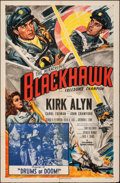 "Movie Posters:Serial, Blackhawk (Columbia, 1952). Folded, Fine/Very Fine. One Sheet (27"" X 41""). Chapter 12 -- ""Drums of Doom."" Glenn Cravath Artw..."