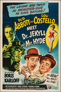 "Abbott and Costello Meet Dr. Jekyll and Mr. Hyde (Universal International, 1953). Folded, Very Fine. One Sheet (27""..."