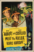 "Movie Posters:Comedy, Abbott and Costello Meet the Killer, Boris Karloff (Universal International, 1949). Folded, Very Fine-. One Sheet (27"" X 41""..."