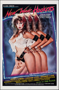 """New Wave Hookers & Other Lot (Dark Bros., 1985). Folded, Very Fine+. One Sheets (2) (27"""" X 41""""). Adult..."""