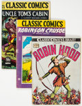 Golden Age (1938-1955):Classics Illustrated, Classic Comics First Editions Group of 7 (Gilberton, 1942-49) Condition: Average GD.... (Total: 7 Comic Books)