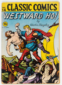 Classic Comics #14 Westward Ho! - First Edition (Gilberton, 1943) Condition: GD
