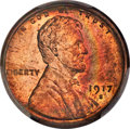 Lincoln Cents: , 1917-S 1C MS64 Red and Brown PCGS. PCGS Population: (235/54 and 3/1+). NGC Census: (92/22 and 1/0+). CDN: $275 Whsle. Bid f...