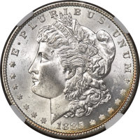 1885 $1 MS64★ NGC. CAC. NGC Census: (34659/12825 and 311/268*). PCGS Population: (28928/11342 and 311/268*). MS64. M...(...