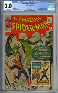 The Amazing Spider-Man #2 (Marvel, 1963) CGC GD/VG 3.0 WHITE pages