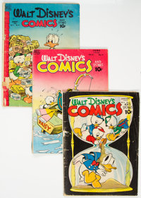 Walt Disney's Comics and Stories Group of 13 (Dell, 1944-61) Condition: Average GD.... (Total: 13 Comic Books)