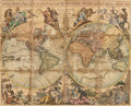 Prints & Multiples, A French Framed Map, 19th-20th century. 37-7/8 x 46-3/4 inches (96.2 x 118.7 cm). ...