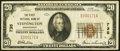 National Bank Notes:Connecticut, Stonington, CT - $20 1929 Ty. 1 The First National Bank Ch. # 735 Fine.. ...