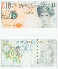 Banksy X Banksy of England Di-Faced Tenner, 10 GBP Note (2 works), 2005 Offset lithograph in colors on paper 3 x 5-5/