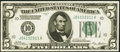 Small Size:Federal Reserve Notes, Fr. 1950-J $5 1928 Federal Reserve Note. Extremely Fine-About Uncirculated.. ...