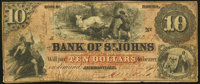 Jacksonville, FL- Bank of St. Johns $10 May 2, 1859 Fine