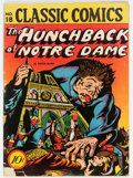 Golden Age (1938-1955):Classics Illustrated, Classic Comics #18 Hunchback of Notre Dame - Original Edition (Gilberton, 1944) Condition: VG-....