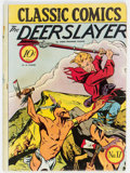 Golden Age (1938-1955):Classics Illustrated, Classic Comics #17 The Deerslayer - First Edition (Gilberton, 1944) Condition: VG/FN....