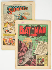 Batman #10/Adventure Comics #103 Group (DC, 1942-46) Condition: Coverless.... (Total: 2 Comic Books)