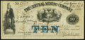 Obsoletes By State:Michigan, Eagle Harbor, MI- Central Mining Company $10 Nov. 30, 1866 Fine-Very Fine.. ...