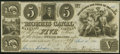 Jersey City, NJ- Morris Canal Banking Company $5 Apr. 10, 1841 Post Note About Uncirculated