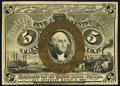 Fractional Currency:Second Issue, Fr. 1232SP 5¢ Second Issue Narrow Margin Face and Back About New.. ...