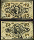 Fractional Currency:Third Issue, Fr. 1251 10¢ Third Issue Very Fine-Extremely Fine;. Fr. 1255 10¢ Third Issue Very Fine-Extremely Fine.. ... (Total: 2 notes)