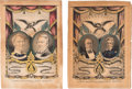 Political:Posters & Broadsides (pre-1896), Taylor & Fillmore And Cass & Butler. Pair Of 1848 Grand National Banners....