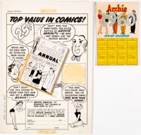Harry Lucey Archie #102-#103 Complete 1-Page Advertisement Original Art (Archie Comics, 1959).... (Total: 2 Original Art...