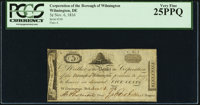Wilmington, DE- Corporation of the Borough of Wilmington 5¢ Nov. 6, 1814 PCGS Very Fine 25PPQ