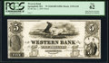 Springfield, MA - Western Bank $5 18__ MA-1195 G20 SENC Proof PCGS CURRENCY New 62