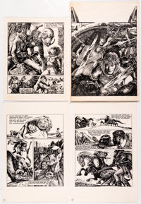 James Cawthorn - Edgar Rice Burroughs Illustrations and Others Lot Original Art Group of 17 (1965-1991).... (Total: 17 I...