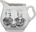 Political:3D & Other Display (1896-present), Cleveland & Stevenson: Double side Jugate Pitcher....