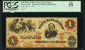 Wooster, OH- State Bank of Ohio, Wayne County Branch in Wooster $1 June 11, 1861 Haxby 5-G1578a Wolka 2870-09 PCGS Fine...
