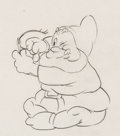 Animation Art:Production Drawing, Snow White and the Seven Dwarfs Happy Animation Drawing (Walt Disney, 1937). ...