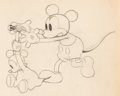 Animation Art:Production Drawing, Mickey's Nightmare Mickey Mouse Animation Drawing (Walt Disney, 1932). ...