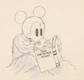Animation Art:Production Drawing, Mickey Plays Papa Mickey Mouse Animation Drawing (Walt Disney, 1934). ...