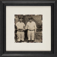 1927 Lou Gehrig Signed Photograph--He Signs for Ruth Too!