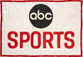 Football Collectibles:Others, 1960's ABC Sports Banner. A perfect display piece...