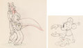 Animation Art:Production Drawing, Mickey's Rival Animation Drawings Group of 2 (Walt Disney, 1936).. ... (Total: 2 Original Art)