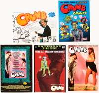 Robert Crumb and Terry Zwigoff Crumb Motion-Picture Promotional Cards Group of 5 (Sony Pictures Classics, 1994).... (Tot...