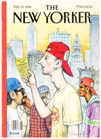 Robert Crumb The New Yorker Published Cover Tearsheet dated 2-21-94 (New Yorker, 1994)