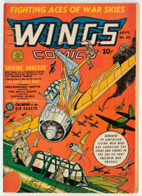 Wings Comics #25 (Fiction House, 1942) Condition: FN-