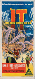 """Movie Posters:Science Fiction, It Came from Beneath the Sea (Columbia, 1955). Folded, Fine/Very Fine. Australian Daybill (13.5"""" X 30""""). Science Fiction.. ..."""