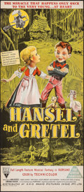 "Movie Posters:Animation, Hansel and Gretel (RKO, 1954). Folded, Very Fine. Australian Daybill (13"" X 30""). Animation.. ..."