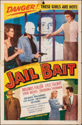 "Movie Posters:Film Noir, Jail Bait (Howco, 1954). Folded, Very Good. One Sheet (27"" X 41""). Film Noir.. ..."