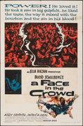 "Movie Posters:Drama, A Face in the Crowd (Warner Bros., 1957). Folded, Fine. One Sheet (27"" X 41""). Drama.. ..."