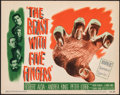 "Movie Posters:Horror, The Beast with Five Fingers (Warner Bros., 1947). Very Fine. Title Lobby Card (11"" X 14""). Horror.. ..."