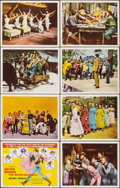 """Movie Posters:Musical, Seven Brides for Seven Brothers (MGM, R-1970s). Very Fine. International Lobby Card Set of 8 (11"""" X 14""""). Musical.. ... (Total: 8 Items)"""