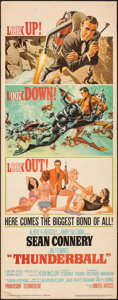 "Movie Posters:James Bond, Thunderball (United Artists, 1965). Folded, Fine+. Insert (14"" X 36""). Frank McCarthy and Robert McGinnis Artwork. James Bon..."