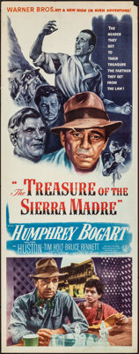 "The Treasure of the Sierra Madre (Warner Bros., 1948). Rolled, Fine+. Insert (14"" X 36""). Film Noir"